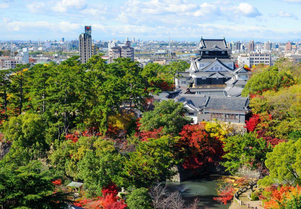 岡崎城景色